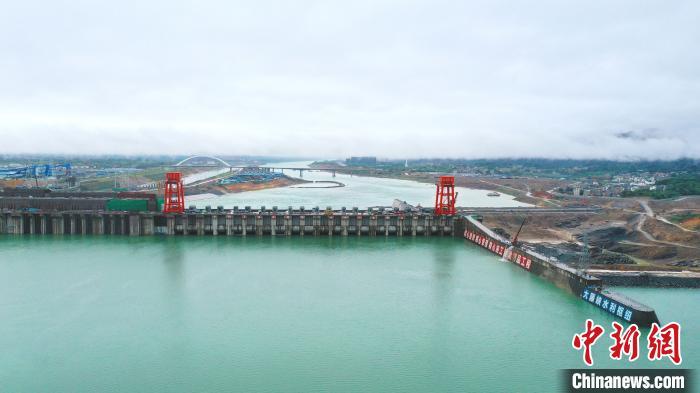 图为大藤峡水利枢纽工程。 钟欣 摄