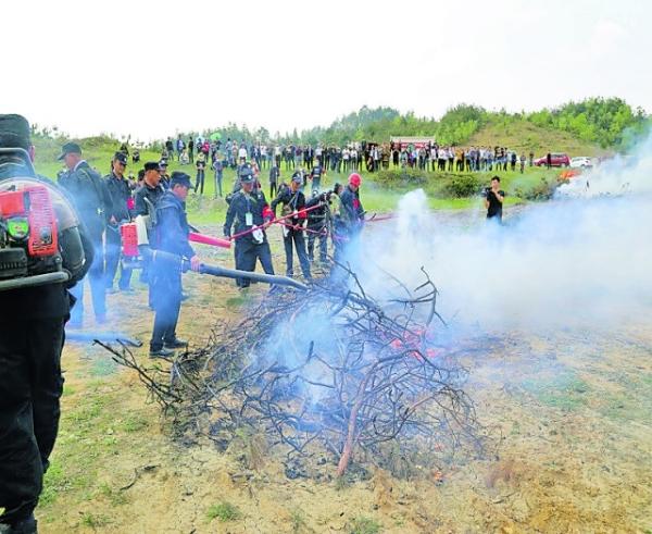 马场镇开展森林防火演练 提升应急处置能力