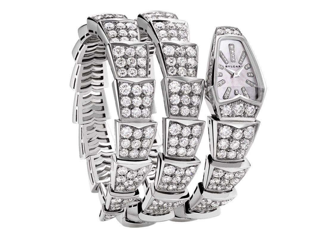 摩登日记|神秘奢华的宝格丽蛇形珠宝腕表图片