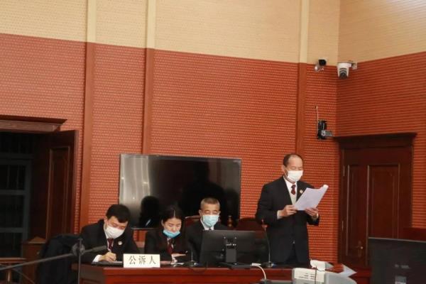 黑龙江大兴安岭松岭区检察院一刑事附带民事公益诉讼案件发回重审后当庭宣判