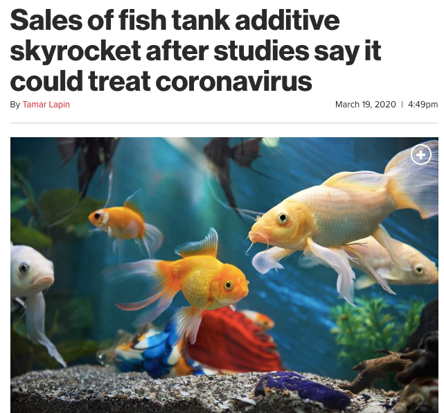 鱼缸清洁剂销量大增。/《纽约邮报》报道页面