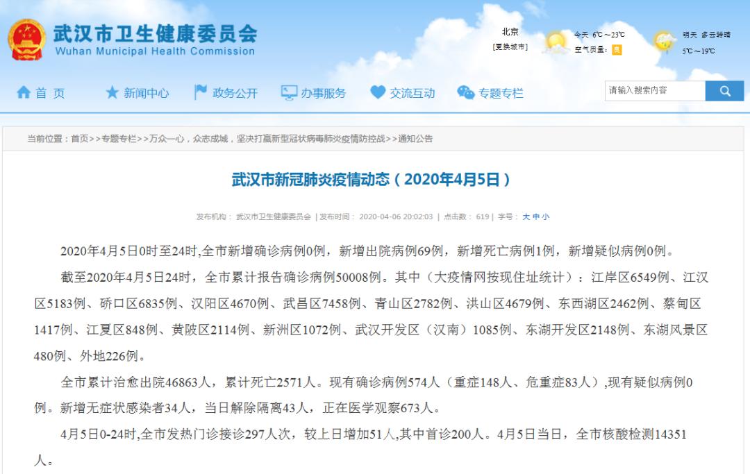 武汉新增无症状感染者34人