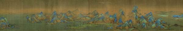 从《千里江山图》的青绿山水传统到创作《春江入海》