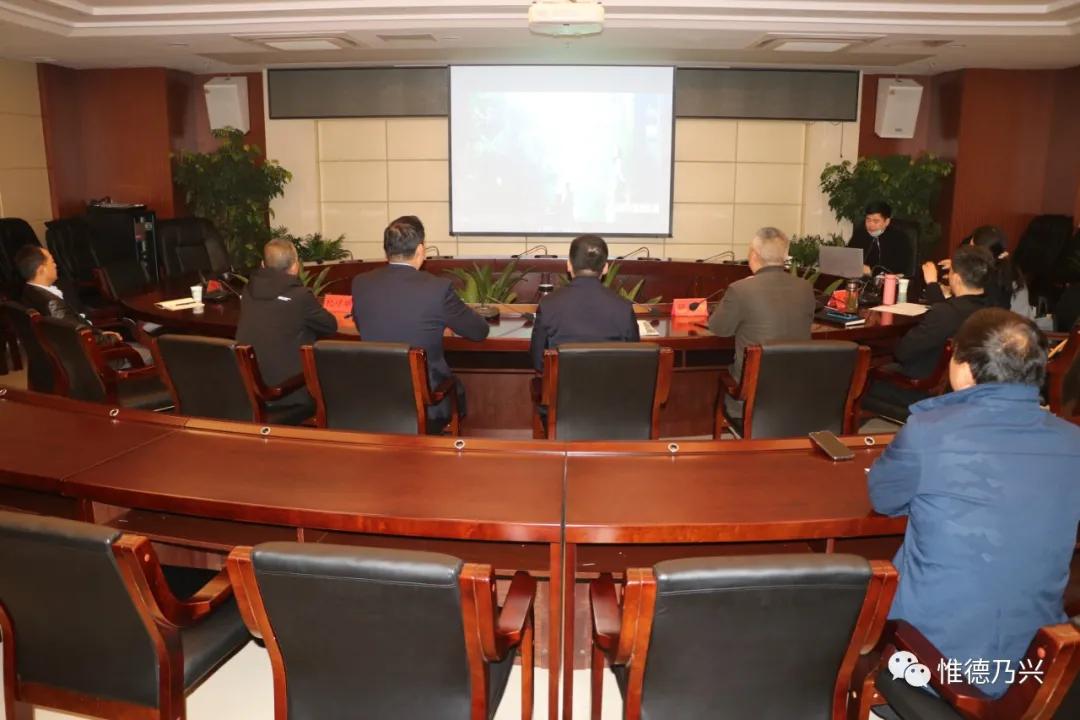 德兴市委书记郭峰听取大茅山自然森林健康乐园项目规划汇报