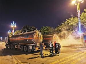 载有32吨有毒化学品 槽罐车发生泄漏