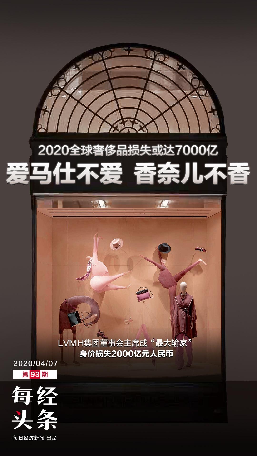 全球奢侈品2020年损失或达7000亿…爱马仕不爱香奈儿不香