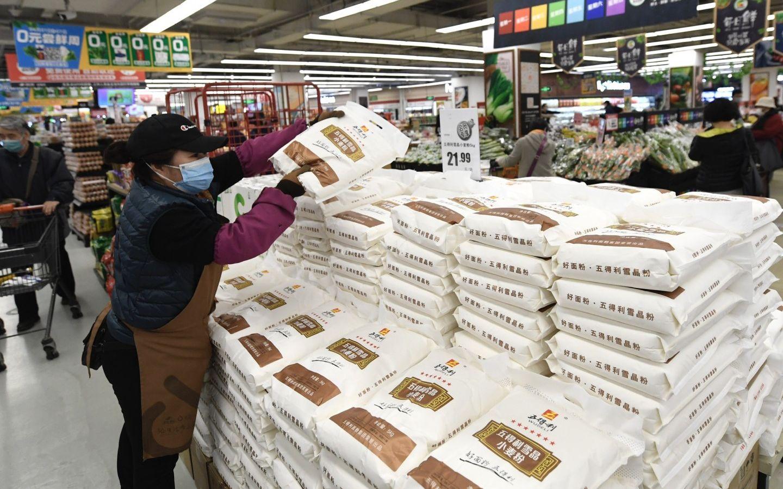 超市米面油购买量下降,囤粮现象逐渐消失图片