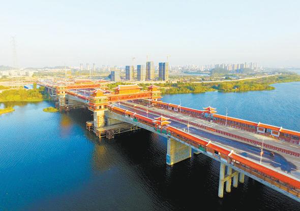 漳州金峰大桥预计下月完工 它拥有世界最长廊桥