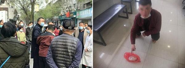 湖北荆州区一男子菜场行窃被民警人赃并获