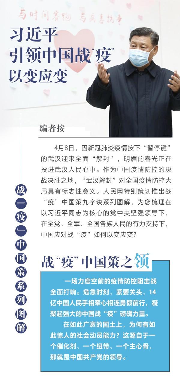 """习近平引领中国战""""疫""""以变应变"""
