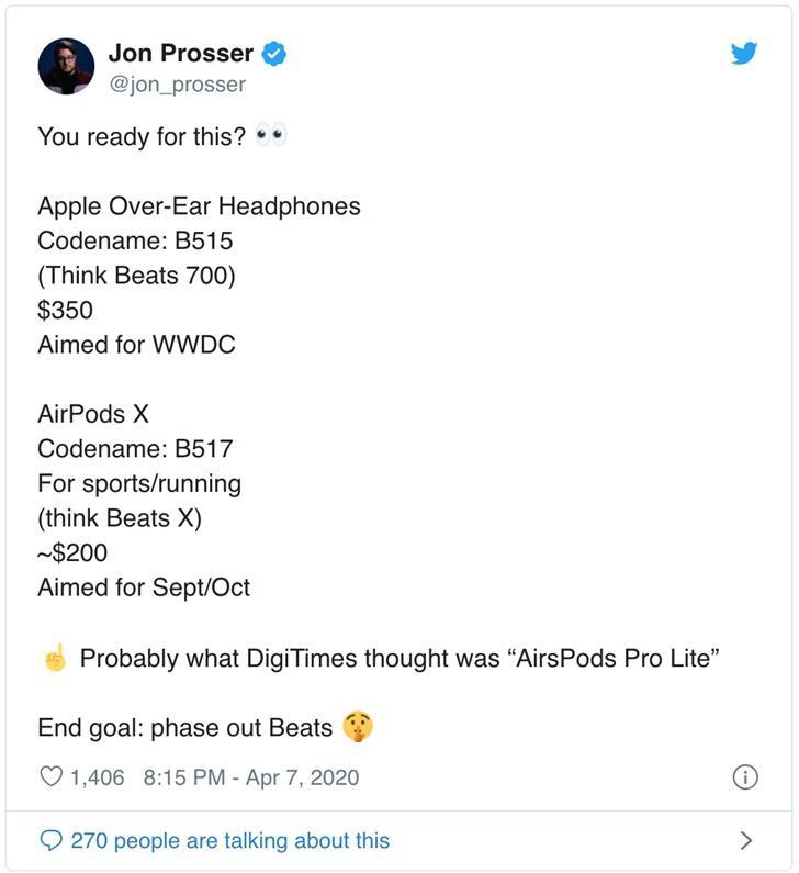 """消息称苹果将推出头戴式耳机和"""" AirPods X """"耳机"""