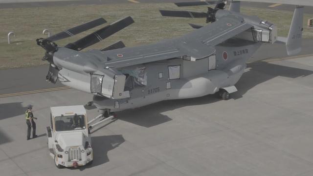 """V-22""""鱼鹰""""运输机抵达日本岩国基地"""