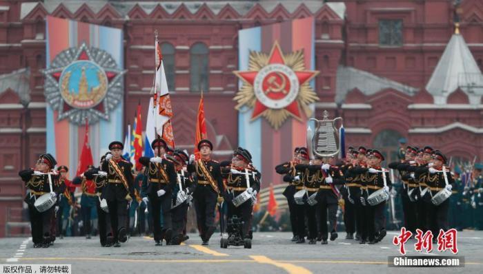 资料图:当地时间2019年5月9日,俄罗斯莫斯科,莫斯科红场举行一年一度的阅兵式,纪念卫国战争胜利74周年。