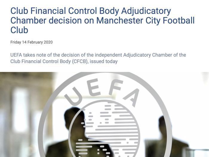 资料图:欧足联于2月发布的声明