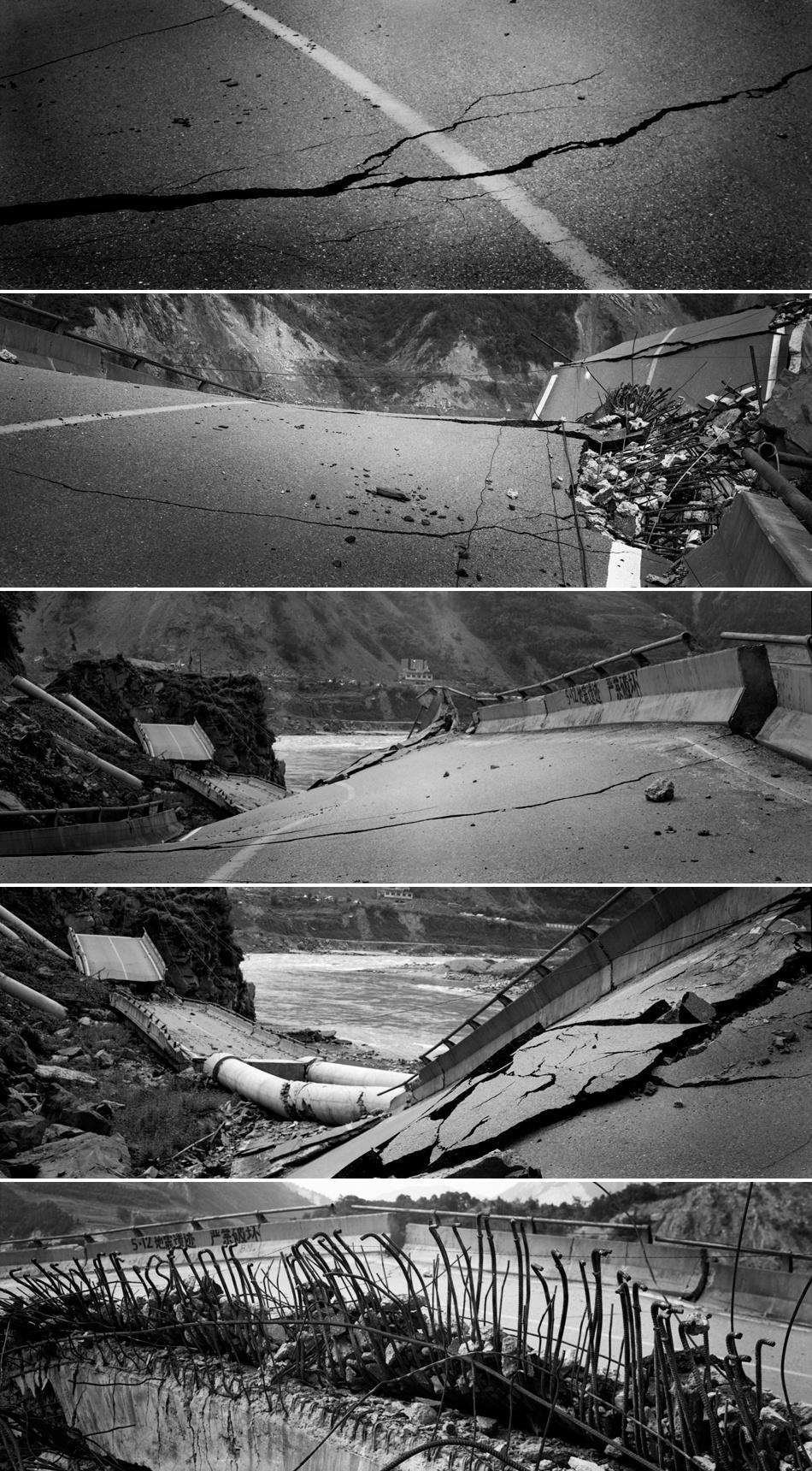2008年8月18/19日,通往北川的路上。