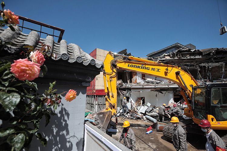天富:西长安天富街街道最大违建开始拆除未来将图片