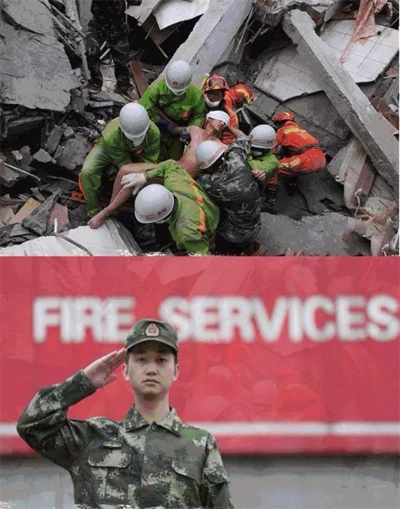 """▲蒋宇航,在废墟中被压5天5夜后,被官兵乐成救出。他说:""""他们给了我第二次生命,我盼望成为他们那样的人。"""""""