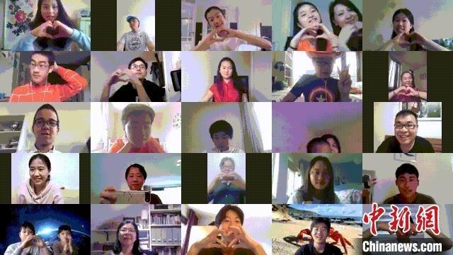 """海外华裔青少年进行了一场特殊的辩论赛——""""云""""端辩论。 山西省侨联供图 摄"""