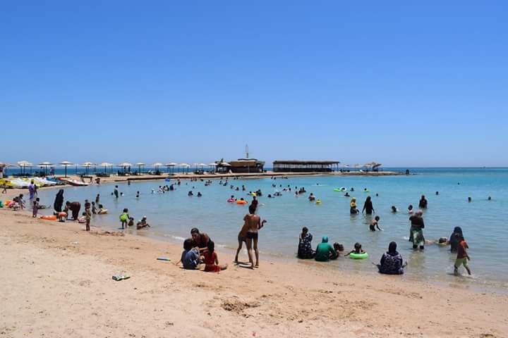 """旅游和文物部部长哈立德·阿纳尼表示,比起拥挤的大城市,沿海城市则""""更加健康""""。 埃及旅游局官网 图"""