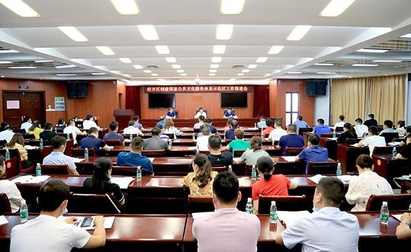 刘建中调度第四批国家公共文化服务体系示范区创建工作