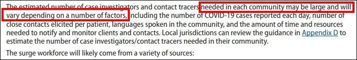 美国疾控中心15日发布的临时方案,要求各州自行安排追踪密接人群的调查人员数量