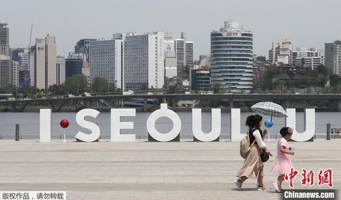 资料图为疫情下的韩国。