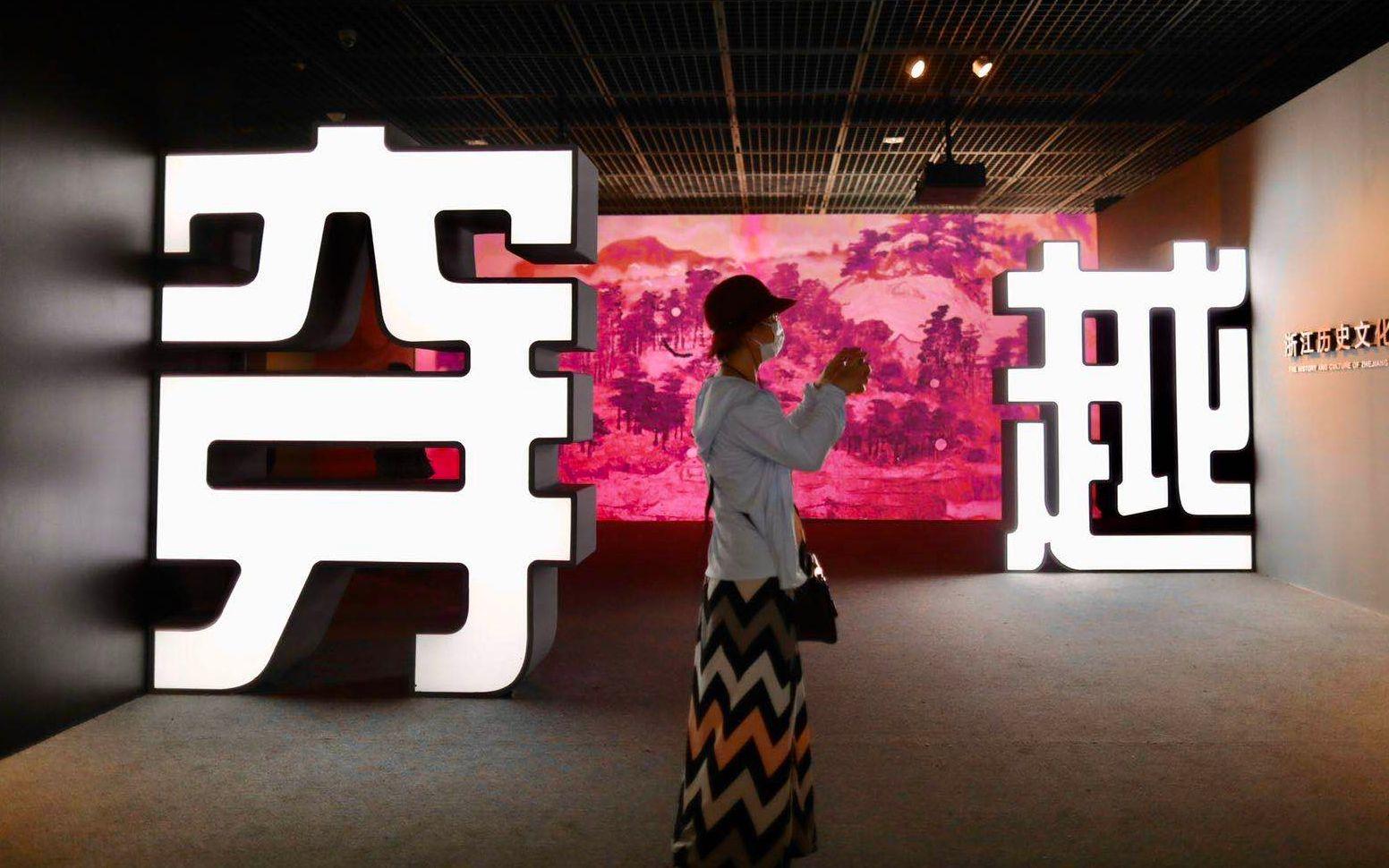 【杏悦平台】探访首博开馆首日展厅杏悦平台进一出图片