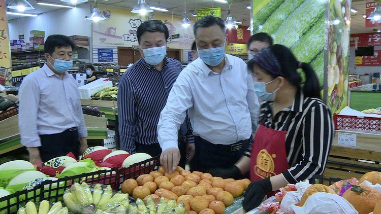 卢高昌检查大荔县节前市场秩序、食品安全和安全生产等工作