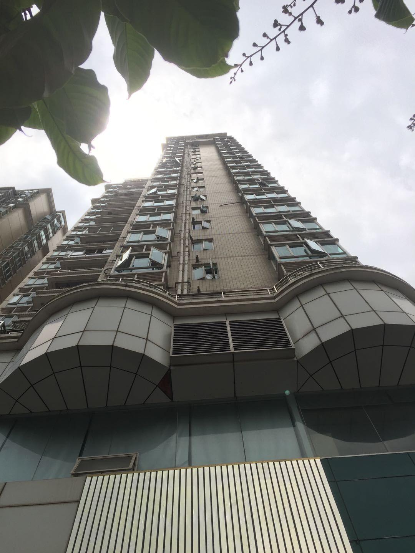 深圳一女童被高空坠下的洗发水瓶砸伤。受访者供图