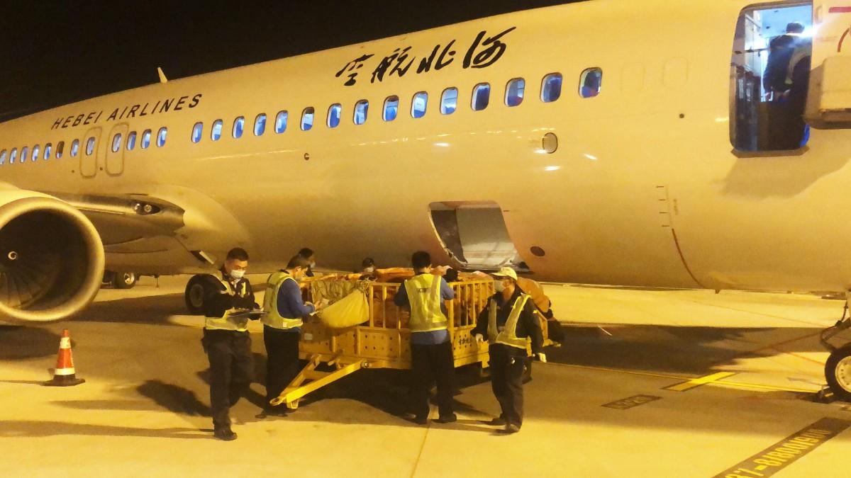"""北京大兴国际机场首个""""客改货""""航班起飞,河北航空执行"""