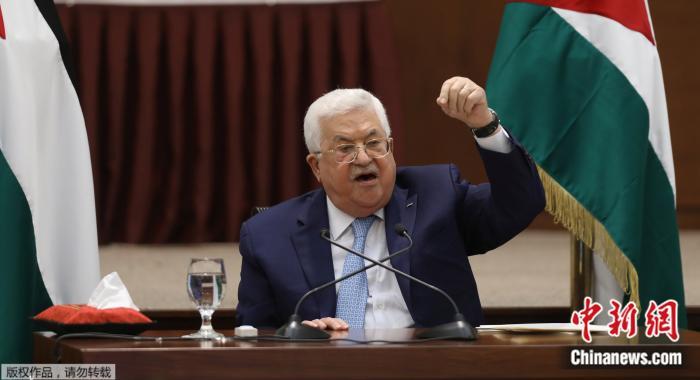 资料图:巴勒斯坦总统阿巴斯。