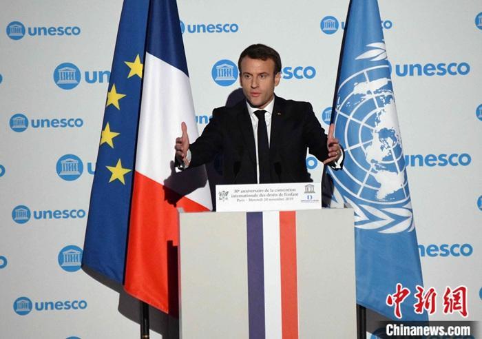 资料图:法国总统马克龙。中新社记者 李洋 摄