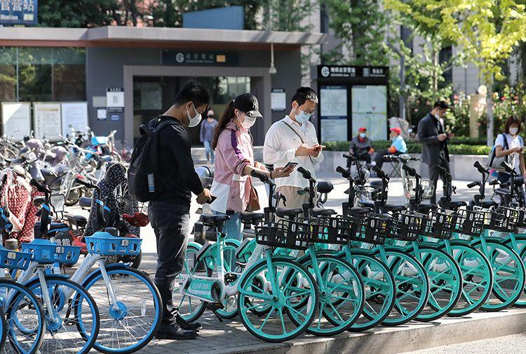 「杏悦娱乐」高峰可免费杏悦娱乐骑半小时共享单车图片