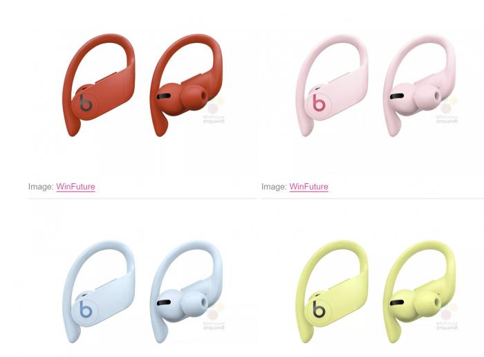 泄露图显示苹果Powerbeats Pro将有4种新颜色