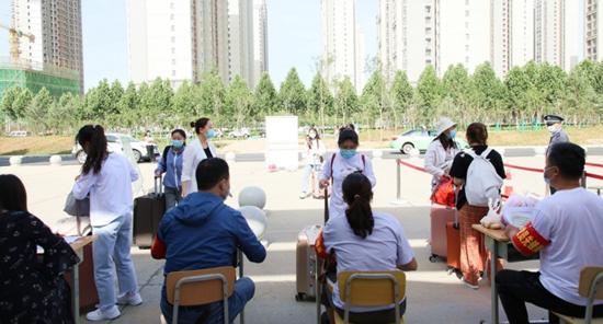咸阳职业技术学院迎来返校第一日
