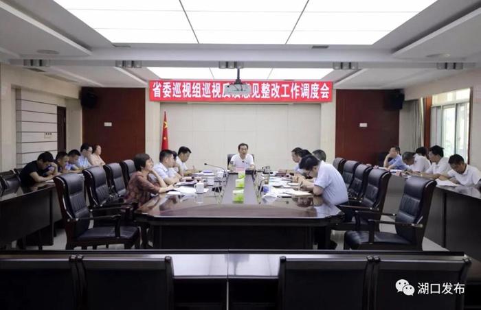 江训开调度省委巡视组反馈意见整改工作