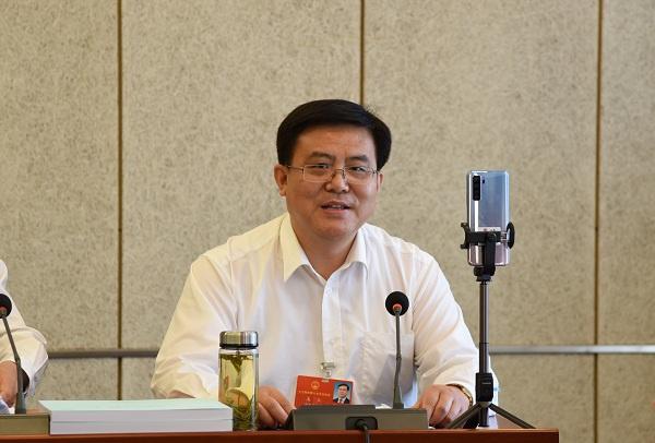 摩鑫登陆:朱玉摩鑫登陆代表在审议政府工作报告时图片