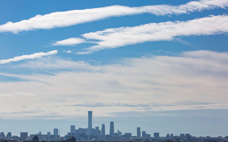 【摩登4平台】北京今天刷屏的蓝天摩登4平台是图片