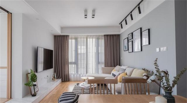 缤纷桃李花园实例,80平米的二居室,质感与时尚并存的现代风装修
