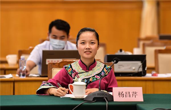 「摩天注册」杨昌芹代表保护传统村摩天注册落留住乡情图片