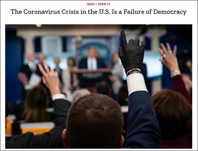 《时代》刊文:美国抗疫不力是民主制度的失败