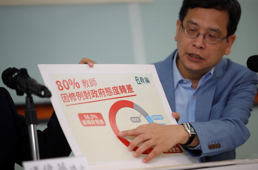 教协认真人叶建源批评香港政府,图源:香港01新闻