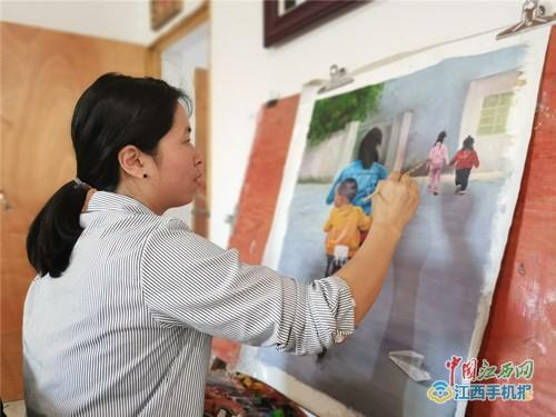 """""""轮椅画家""""张海晶:画笔绘出多彩脱贫路(组图 视频)"""