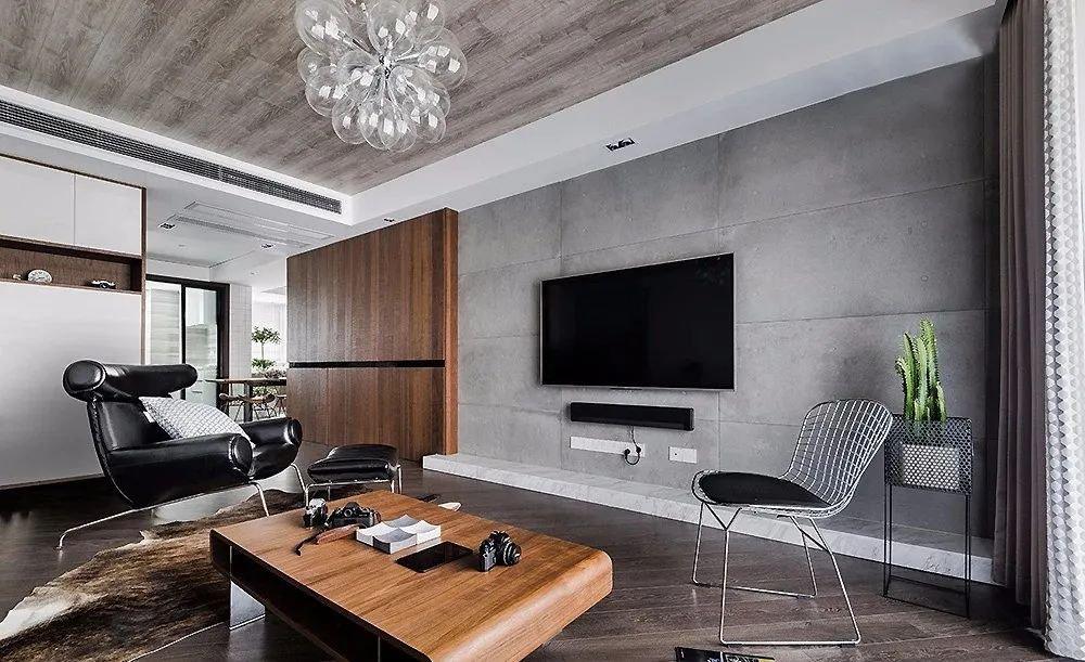153㎡现代工业风3室2厅,高级有格调的理性生活