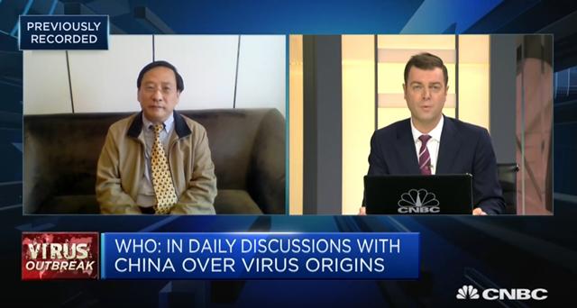 高志凯担当CNBC采访 视频截图
