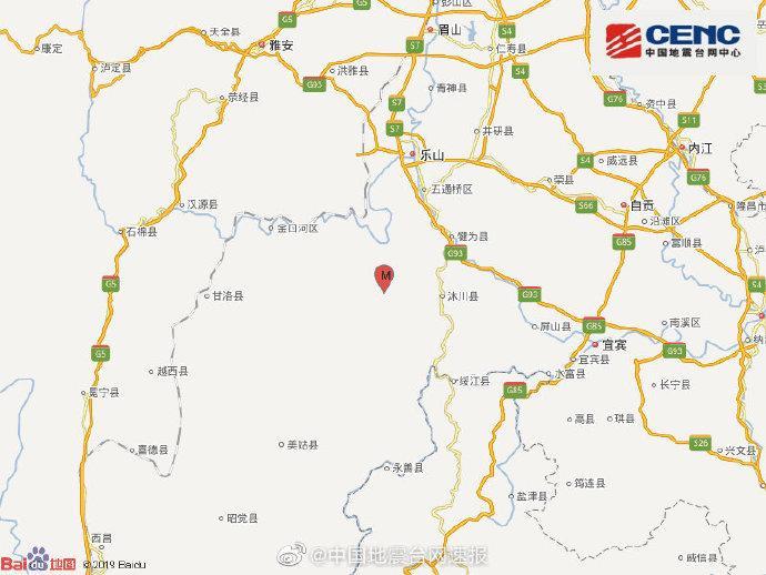 四川乐山市马边县发生3.8级地震 震源深度14千米