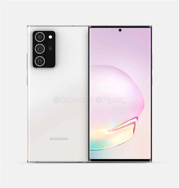 6.9寸挖孔屏 加入潜望镜头:三星Galaxy Note 20+渲染图曝光