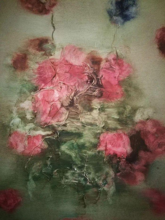"""周春芽一张小小的""""玫瑰花"""",为何拍出了150万的高价"""
