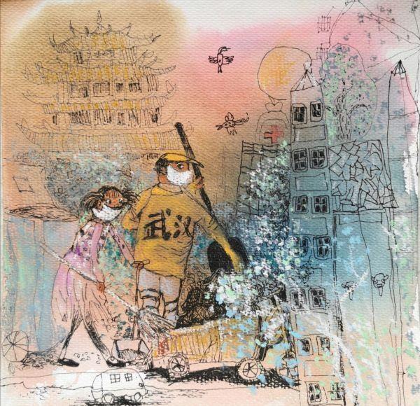 """孩子们居家时描绘的世界,""""全国儿童画优秀作品邀请展""""线上开展"""
