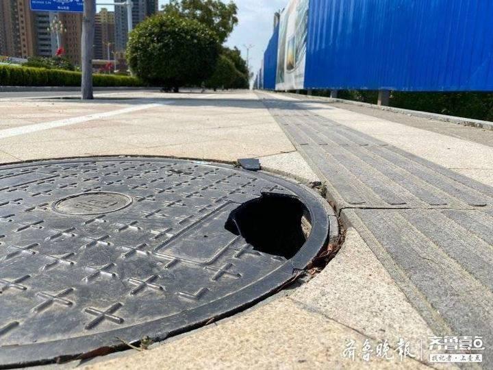 梅山西路的窨井盖该修了 高铁新区城管局:施工单位已陆续入场